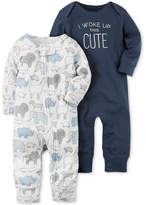 Carter's 2-Pk. I Woke Up This Cute Cotton Coveralls, Baby Boys