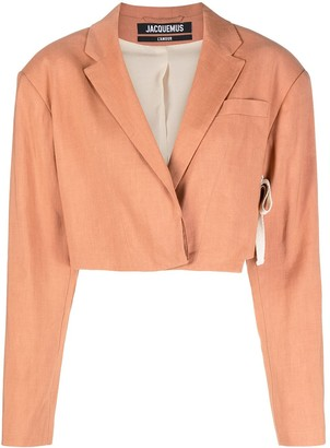 Jacquemus Le Santon single-breasted cropped blazer