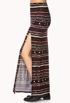 Forever 21 Southwestern Print Maxi Skirt