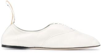 Loewe Soft Derby leather ballet pumps