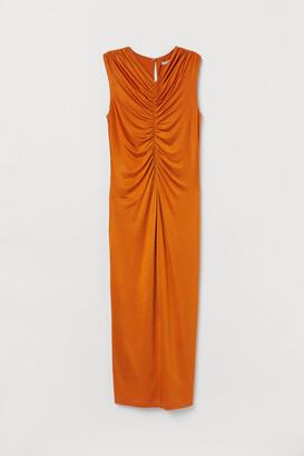 H&M Draped Dress - Yellow