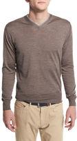 Peter Millar Collection Merino-Silk V-Neck Sweater