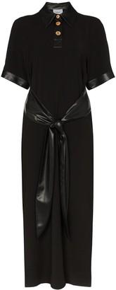 Nanushka Leila short sleeve midi dress