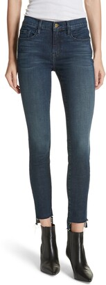 Frame Le Skinny Raw Step Hem Jeans