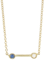 Tate Sapphire and White Diamond Bar Necklace