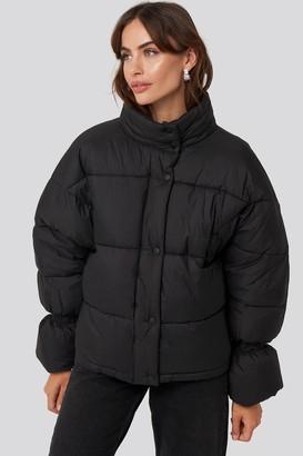 NA-KD Elastic Detail Puffer Jacket Beige