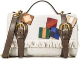 Tory Burch Wool Mini Blanket Duffel Bag