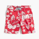J.Crew Boys' Hawaiian-print board short