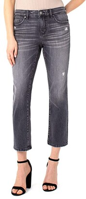Liverpool Crop Straight in Spencer (Spencer) Women's Jeans