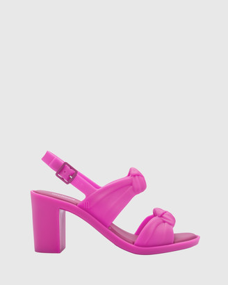 Melissa Women's Pink Strappy sandals Velvet Heel - Size One Size, 39 at The Iconic