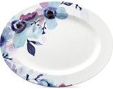 Lenox Indigo Watercolor Floral Porcelain Oval Platter, a Macy's Exclusive Style
