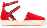 Rebecca Minkoff strappy espadrilles - women - Raffia/Leather/Suede/rubber - 9.5