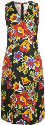 Carolina Herrera Digital Flowers Sheath Dress