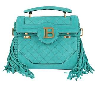 Balmain B-Buzz 23 Fringed Top Handle Tote Bag