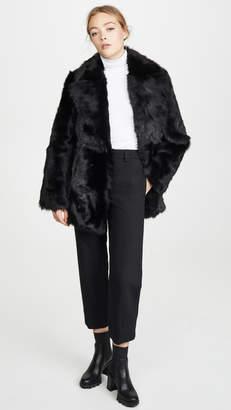 Theory Overlay Fur Coat