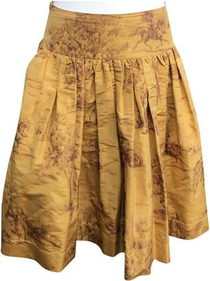 Hermes Gold Silk Skirts