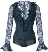 Alexis lace embroidered blouse