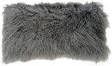 Le-Coterie Tibetan 10x20 Lamb-Fur Pillow, Gray