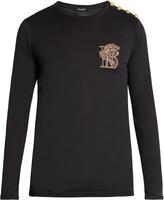 Balmain Logo-embroidered long-sleeved T-shirt