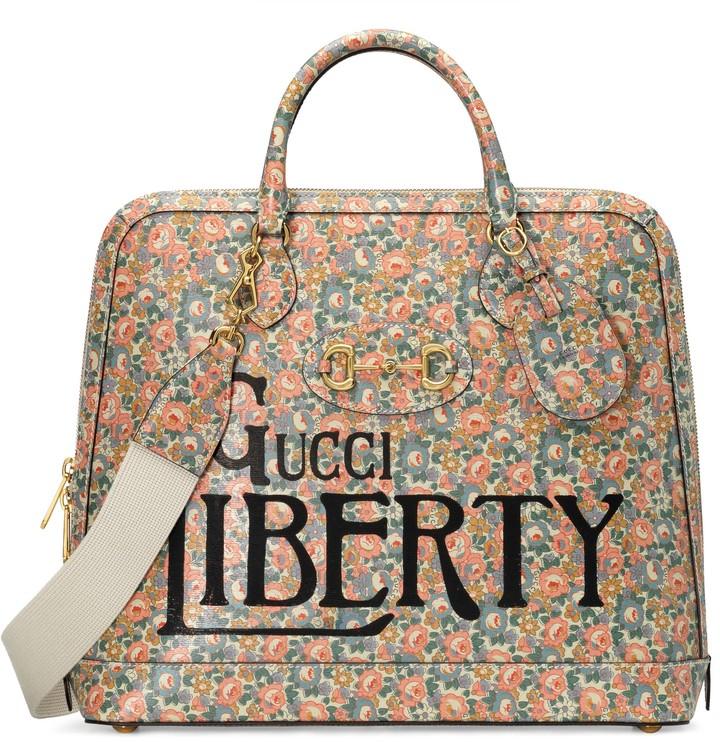 Gucci Horsebit 1955 Liberty London small duffle bag