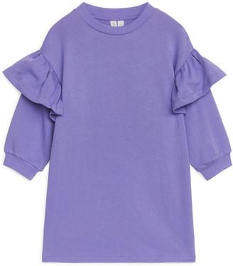 Arket Frill Sweatshirt Dress