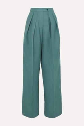 Acne Studios Pristine Woven Wide-leg Pants - Teal