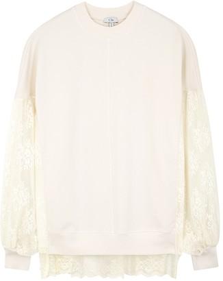 Clu White cotton-blend sweatshirt