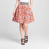 3Hearts Women's Textured Floral Printed Party Skirt - 3Hearts (Juniors')