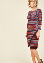 Bestowed With Composure Striped Dress in M