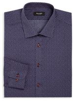 Sand Regular-Fit Micro-Paisley Dress Shirt