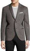 Neil Barrett Modernist-Stripe Sport Jacket, Gray