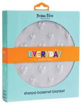 NEW Bubba Blue Everyday Essentials Sherpa Bassinet Blanket Love Heart Grey