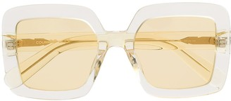Courrèges Eyewear Tinted Square-Frame Sunglasses