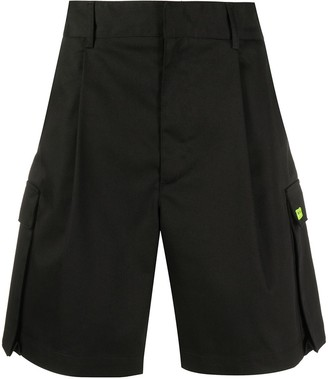 MSGM Pleated-Detail Cargo Shorts