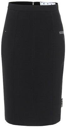 Off-White Logo-tag pencil skirt
