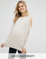 Asos Sweater With Cold Shoulder Detail