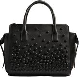 DSQUARED2 Twin Zip Studded Napa Leather Bag