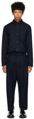 BED J.W. FORD Navy Wool Western Jumpsuit