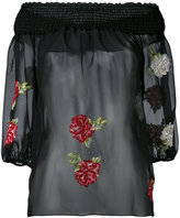 Blugirl embroidered floral blouse - women - Polyester/Viscose - 40