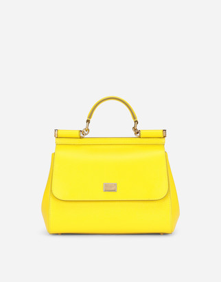 Dolce & Gabbana Medium Sicily Bag In Dauphine Calfskin