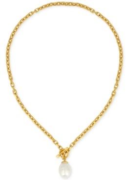 Majorica Gold-Tone Baroque Imitation Pearl Pendant Necklace