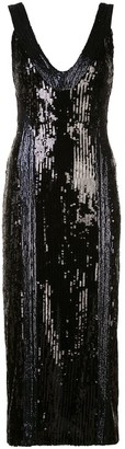 Galvan Sequinned Cocktail Dress