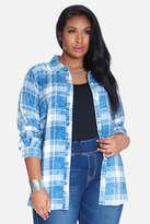 Fashion to Figure Jacob Plaid Denim Shirt