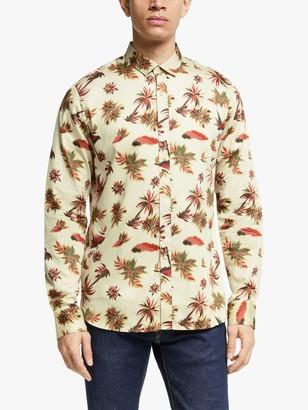Scotch & Soda Lightweight All Over Hawaiian Print Shirt, Brown