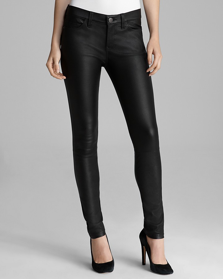 Current/Elliott Jeans - The Ankle Skinny in Stretch Leather