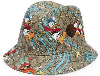 Gucci Disney x Donald Duck Supreme canvas fedora