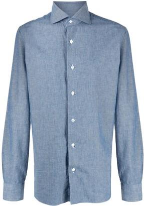 Barba Chambray Tailored Shirt