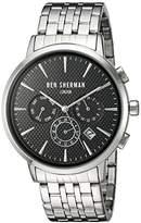 Ben Sherman Men's 'Portobello Professional' Quartz Stainless Steel Watch, Color:Silver-Toned (Model: WB028BMA)