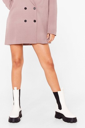 Nasty Gal Womens The Under-Cleated Champ Chelsea Boots - White - 3