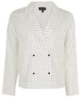 Topshop Cross print pyjama shirt
